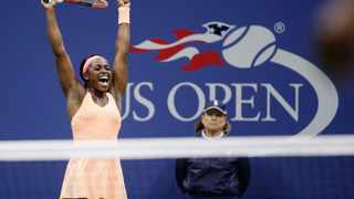 Sloane Stephens reacts after defeating Venus Williams in a semifinal match at the 2017 U.S. Open tennis tournament in New York. Photo: AP Photo/Seth Wenig
