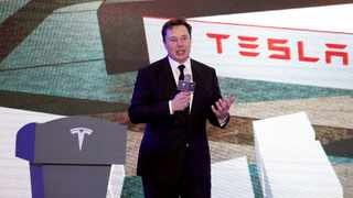 Tesla Inc CEO Elon Musk speaks at an opening ceremony for Tesla China-made Model Y program in Shanghai. File picture: Reuters/Aly Song