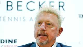Former Wimbledon champion Boris Becker (pictured) and Australian Nick Kyrgios traded insults on social media on Tuesday. Picture: Reuters