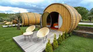 Quinta da Pacheca estate in Portugal offers a lodging option to sleep in a giant wine barrel. Picture: The Wine House