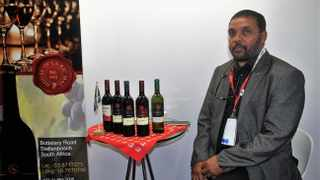 Keen to capture significant share of West African wine market - the Marketing Manager of La RicMal, Malcolm Green with his wines. Photo: Supplied