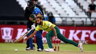 Imran Tahir defended 15 runs to clinch a Super Over victory for the Proteas against Sri Lanka at Newlands on Tuesday. Photo: Phando Jikelo/African News Agency/ANA