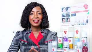 Entrepreneur Relebohile Moeng is founder of organic skin and hair care brand Afri-Berry. Image: Supplied.