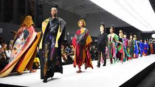 Loayo Art from Morocco showing at the AFI fashion week at the CTICC. (Picture: Phando/Jikelo/African News Agency(ANA)