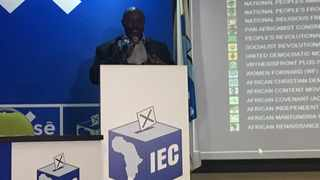 Mawethu Mosery addresses the media from the KZN results centre. Picture: Sihle Mlambo