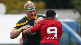 Dylan Richardson in action for South Africa during the 2017 U19 International Series rugby match between South Africa and France in Paarl. Photo: Chris Ricco/BackpagePix