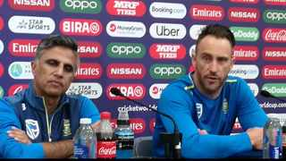 Faf du Plessis: There's not a lot of options in terms of our bowling attack. Photo: @ZaahierAdams on twitter