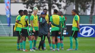 Banyana Banyana coach Desiree Ellis issues instructions during the teams training session in Le Harve, France ahead of their opening game against Spain at the World Cup. Photo: Sydney Mahlangu/BackpagePix