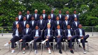 Banyana Banyana pose for a team picture ahead of their match against China. Photo: @Banyana_Banyana on twitter