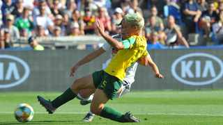 Janine Van Wyk in action for South Africa during the  2019 FIFA Women's World Cup in France. Photo: Sydney Mahlangu/ BackpagePix