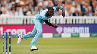 England's Jofra Archer in action in the Cricket World Final on Sunday. Photo: Action Images via Reuters/Andrew Boyers