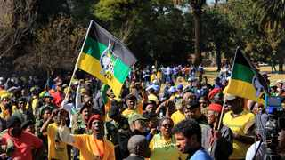 Military veterans and supporters marched in Parktown in support of former president Jacob Zuma who is testifying at the State Capture Inquiry. Picture: Dimpho Maja/African News Agency(ANA)