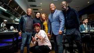 Local celebs wine and dine at DJ Oskido's new restaurant. Picture: Insragram (OskidoIBelieve)