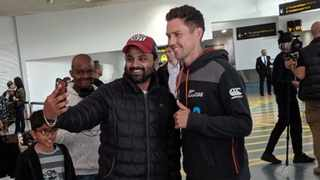 A group of New Zealand cricket players touched down on home soil on Thursday. Photo: @BLACKCAPS on twitter