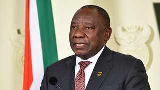 President Cyril Ramaphosa addressing the media briefing on the report of the Public Protector on allegations that the President violated the Executive Ethics Code at the Union Buildings Media Centre in Tshwane. Picture: GCIS
