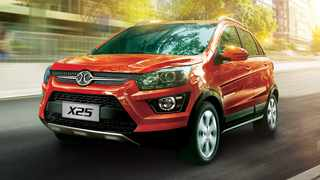 The BAIC X25, which uses Smart ForFour underpinnings through existing collaborations between the two companies.