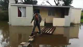 Jody January from Klipfontein says his house has been flooding for years. He said he has not received help from anyone every winter when flooding occurs. Picture: Ayanda Ndamane/African News Agency(ANA)