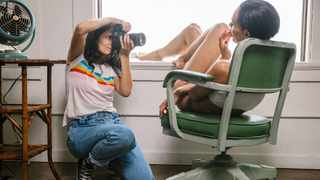 Ana Dias photographing Teela LaRoux, Playboy's July Playmate. Pictures: Stephanie Noritz/The New York Times