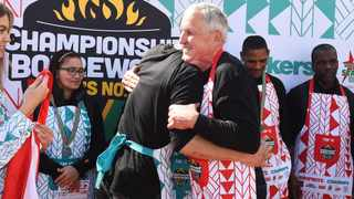 Olivier Kritzinger, the 2016 Championship Boerewors competition winner, has won the competition for the second time. Photo: Phando Jikelo/African News Agency(ANA)