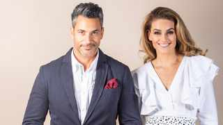 Nico Panagio and Dr Rolene Strauss will be hosting this year's Pink Polo. Picture: Supplied.