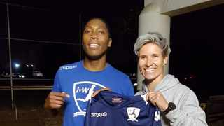Caster Semenya – South Africa's World Champion athlete, has embarked on a new sporting journey after signing for JVW FC. Photo:@janinevanwyk5 via Twitter