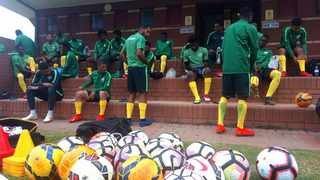 The SA under-23 team during a practice session. Photo: www.safa.net
