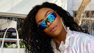Bonang Matheba's sunglasses block out the sun, and her annoyance blocks out at certain fans from her Twitter account. Picture: Instagram