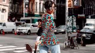Sarah Langa in New York City. Picture: Supplied.