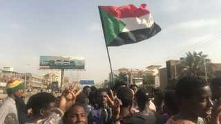 Students protest in Darfur. Picture: Twitter
