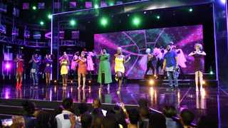 """The """"Idols SA"""" top 8 and the Mzansi Gay Choir. Picture: Supplied"""