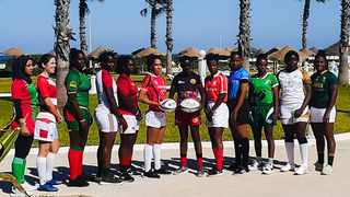The official captains photograph at the African Qualifiers in Tunisia. Photo: Rugby Afrique on facebook