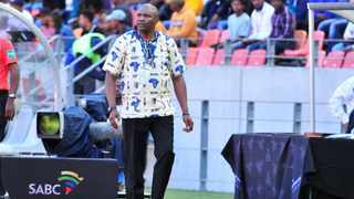Molefi Ntseki Coach of Bafana Bafana suffered a loss in his first competitive game with the team. Photo: Deryck Foster/BackpagePix