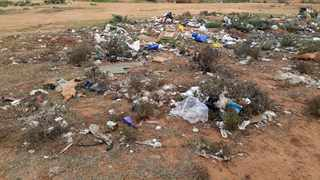 The dumping ground where the children consumed the toxic substance. Picture: Supplied