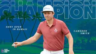 The 2020 Sony Open is Smith's second PGA Tour win following his 2017 Zurich Classic triumph. Photo: @PGATour on twitter