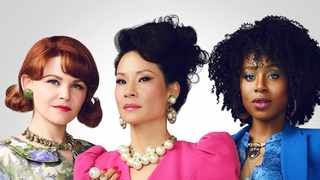 "Ginnifer Goodwin as Beth-Ann, Lucy Liu as Simone, Kirby Howell-Baptiste as Taylor co-star in ""Why Women Kill"". Picture: Courtesy CBS"