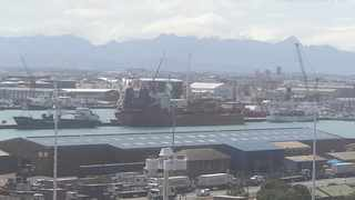 The repair ship meant to fix damaged undersea cables has yet to receive the go-ahead to leave Cape Town harbour. Picture: African News Agency (ANA)