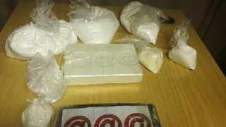 Cocaine seized during a drug bust by Point police in Ballito. Picture supplied