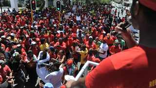 Cosatu March to Parliament to hand over a memorandum. Picture: Armand Hough/African News Agency