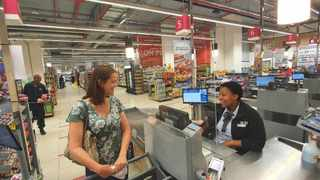 Perspex screens are being rolled out at all Pick n Pay till points countrywide as preventative measures to stop the spread of the coronavirus. Photo: Pick n Pay