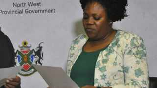 North West social development MEC Boitumelo Moiloa. Picture: African News Agency (ANA)