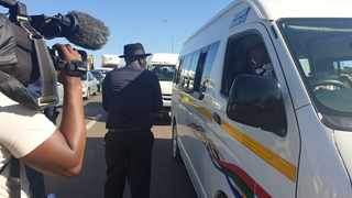 Police minister Bheki Cele is in KZN this week, ensuring that people are adhering to lockdown rules. Picture: SAPS Twitter