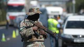 A member of the SANDF at a roadblock during the lockdown.  Picture: Henk Kruger/African News Agency (ANA)