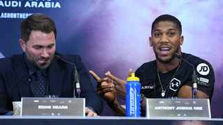 Heavyweight world champion Anthony Joshua's promoter Eddie Hearn is planning to organise fights in his own back garden when professional boxing returns in July from the Covid-19 lockdown. Photo: EPA/Andy Rain
