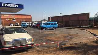 The scene where three people believed to be taxi owners were shot in in Mabopane. Picture: James Mahlokwane