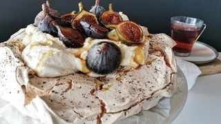 "Sebastian ""Bas"" Newman's delectable Rooibos and fig pavlova drizzled with a simple Rooibos syrup. Picture: Supplied"