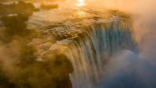 Victoria Falls puts on its greatest show in a decade.  Picture: Shaun McMinn.