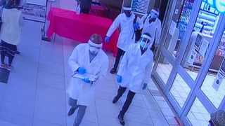 The men who robbed the pension payout point in PMB were dressed in PPE gear.  Picture: Supplied