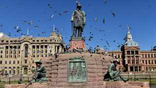 The Paul Kruger statue in Pretoria has joined the list of defaced statues around the world. Picture: Oupa Mokoena/African News Agency (ANA)