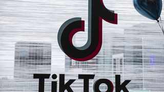 The logo for the app TikTok is displayed. Social media has become a lifeline to ensure connectedness with family, friends, the church, societies and even business during the Covid-19 lockdown period, says futurist and technology strategist Professor Louis Fouire. Photo: Bloomberg