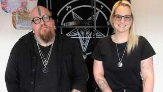 "Riaan Swiegelaar and Adri Norton Co-Founders of the South African Satanic Church. Picture"" Brendan Magaar/African News Agency(ANA)"